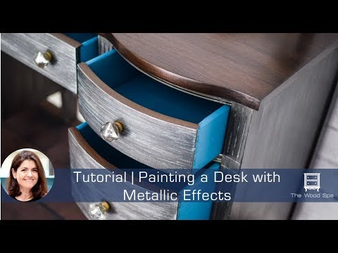 Painting Furniture with Metallic Effects for an Industrial Look - Speedy Tutorial #8