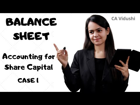 #1 Shares Balance Sheet | Class 12 Accountancy | Accounting for Share Capital | VCC |