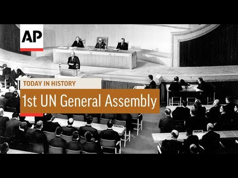D. K. Smith - January 10, 1946 First meeting of the United Nations
