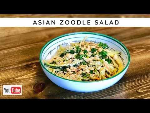 Asian Zoodle Salad with Homemade Peanut Sauce   RecipesTested