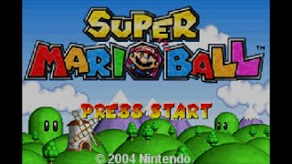 Super Mario Ball ( Mario Pinball Land ) - GBA/WiiU - Game FOOTAGE
