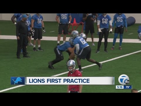 Detroit Lions open training camp