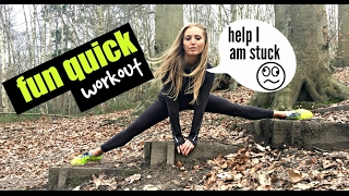 FUN OUTDOOR WORKOUT - just 5 minutes and easy to follow at home using a step