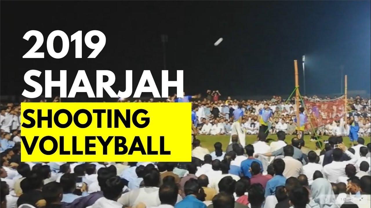 2019 Shooting Volleyball Match Sharjah Chakwal Club vs Jehlum Club on Eid wali ball Dubai