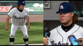 TRETT CARROT HITS A INSIDE THE PARK HOME RUN! MLB THE SHOW 17 ROAD TO THE SHOW