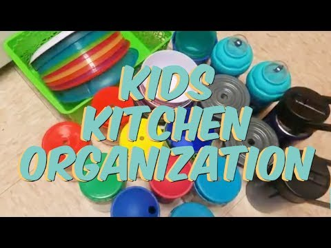 Kids Kitchen Organization