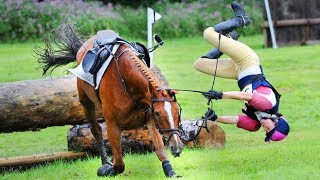 NEW Horse Falls Compilation 2018 -  Best Bad Horse Riding Falls and Pony Fails - Equestrian Bloopers