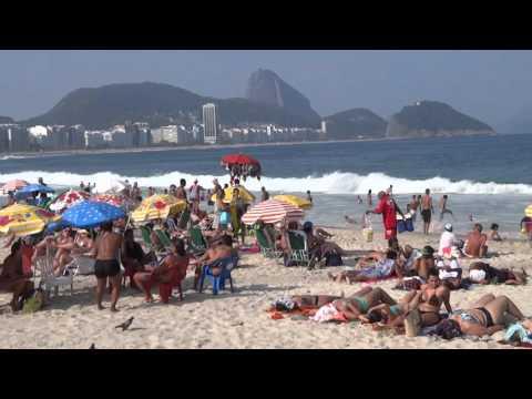 Vacation Tour of Ipanema, Copacabana and Arpoador Beaches in Rio 2015 Full HD