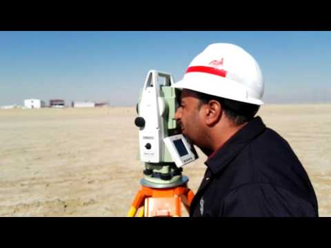 Stakeout with Leica Total Station TS09 Plus in English