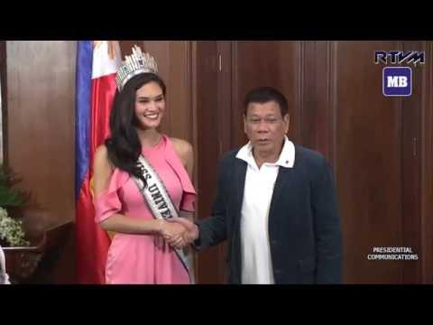 Miss Universe Pia meets Pres. Duterte at Malacañan Palace