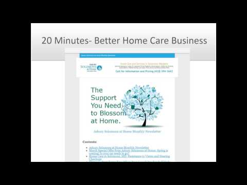 20 Minutes to More Home Care Leads