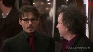 """Джонни Депп и Тим Бертон на премьере фильма """"Суинни Тодд"""" 2007 г. Нью Йорк"""