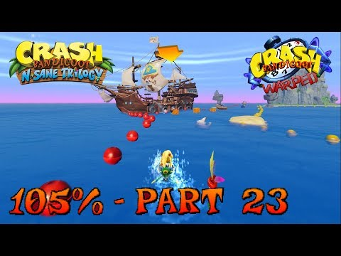 Crash Bandicoot 3 - N. Sane Trilogy - 105% Walkthrough, Part 23: Tell No Tales (Gem)