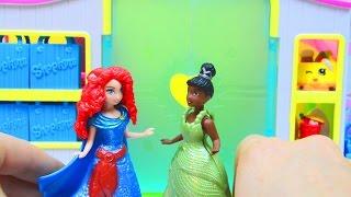 Disney Princess Merida Magiclip with Tiana Shopkins Shopping Fun