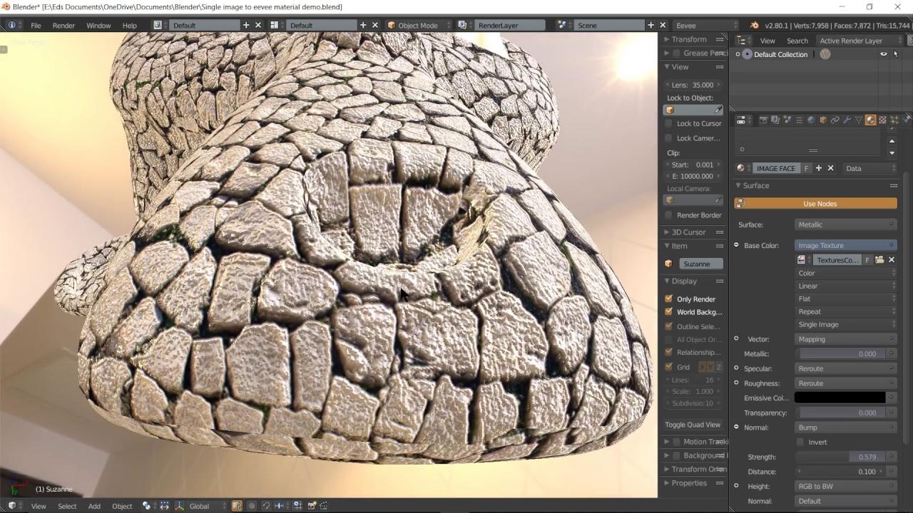 Blender 2 80 EEVEE TUTORIAL - material from single image