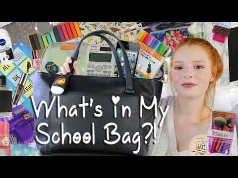 What's In My School Bag / Back to School | NiliPOD