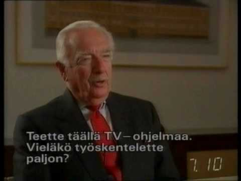 Walter Cronkite interview by Tomi Lindblom (1990s) / Finland