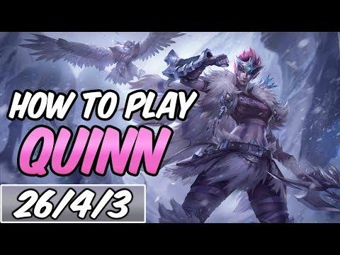 HOW TO PLAY QUINN   Build & Runes   Diamond Woad Scout Quinn   League Of Legends