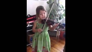Pre-Twinkle Suzuki Violin - The Flower Song (3 years old)