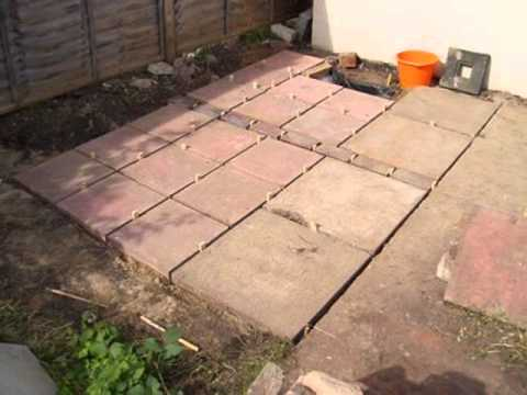 Elegant How To Lay A Patio   YouTube