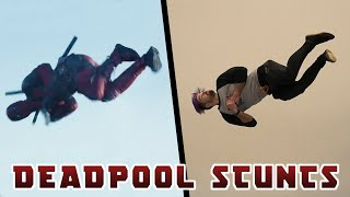 Doing Stunts From Deadpool Movie In Real Life (Insane tricks and Parkour))