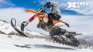 白馬のスキー場でKTM スノーバイクに乗ってきた!|丸山浩の速攻バイクインプレ