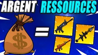 Exchange money for Weapons Resources! Fortnite Saving the World