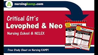 What are Critical Drips like Levophed and Neo used for Cardiac Medications Nursing KAMP NCLEX 2019