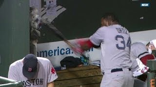 David Ortiz SMASHES the dugout phone and gets ejected!