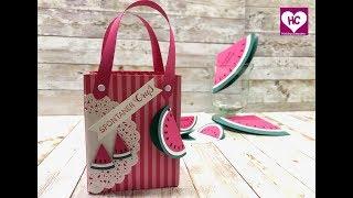 Geschenktüte Wassermelone-Anleitung