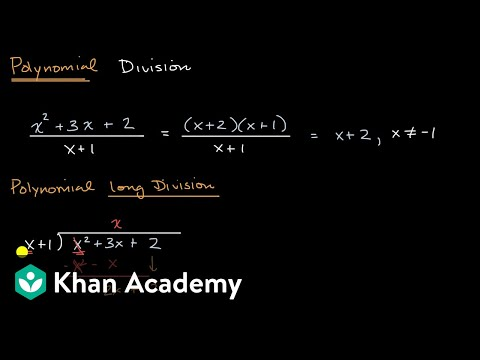 Polynomial Division Introduction | Algebra 2 | Khan Academy