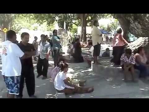 Entertainment at Bairiki Square in Tarawa / Kiribati : Feb & March 2013
