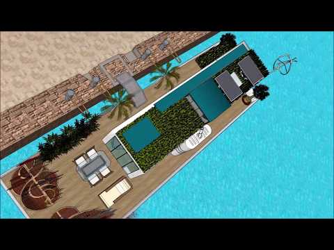 Houseboat Casa Fluvial design architect Sao Paulo in BRAZIL luxury floating barge project constructi