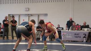 2016 ONT SR PROV FS57kg Sam Jagas (Brock) vs Marco Palermo (Lakehead)