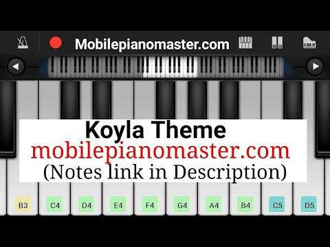 Koyla Theme Piano |Notes |Piano Keyboard|Piano Lesson|Piano Music|learn piano Online|Piano Keyboard