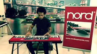 NORD ELECTRO 6D 73 , DEMO NA CLASSIC KEYBOARDS , COM HERBERT MEDEIROS