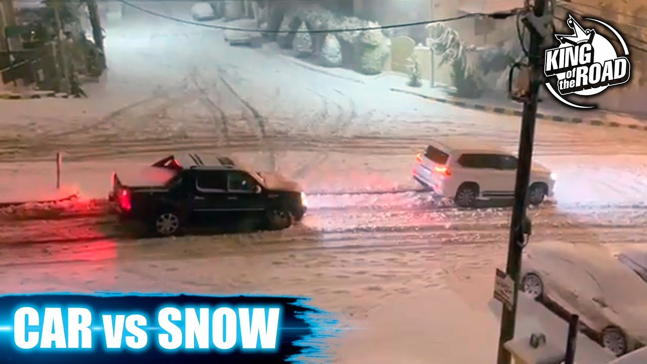 Car ice Sliding crash & spin outs 2021. Black ice and Icy road. Winter weather.