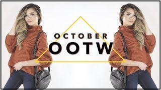 OCTOBER Fall Outfits of the Week | Fall Fashion Outfit Ideas Lookbook | Miss Louie