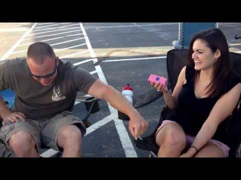 Man up Marine. Girl experiments with taser on marine and gets surprised herself.