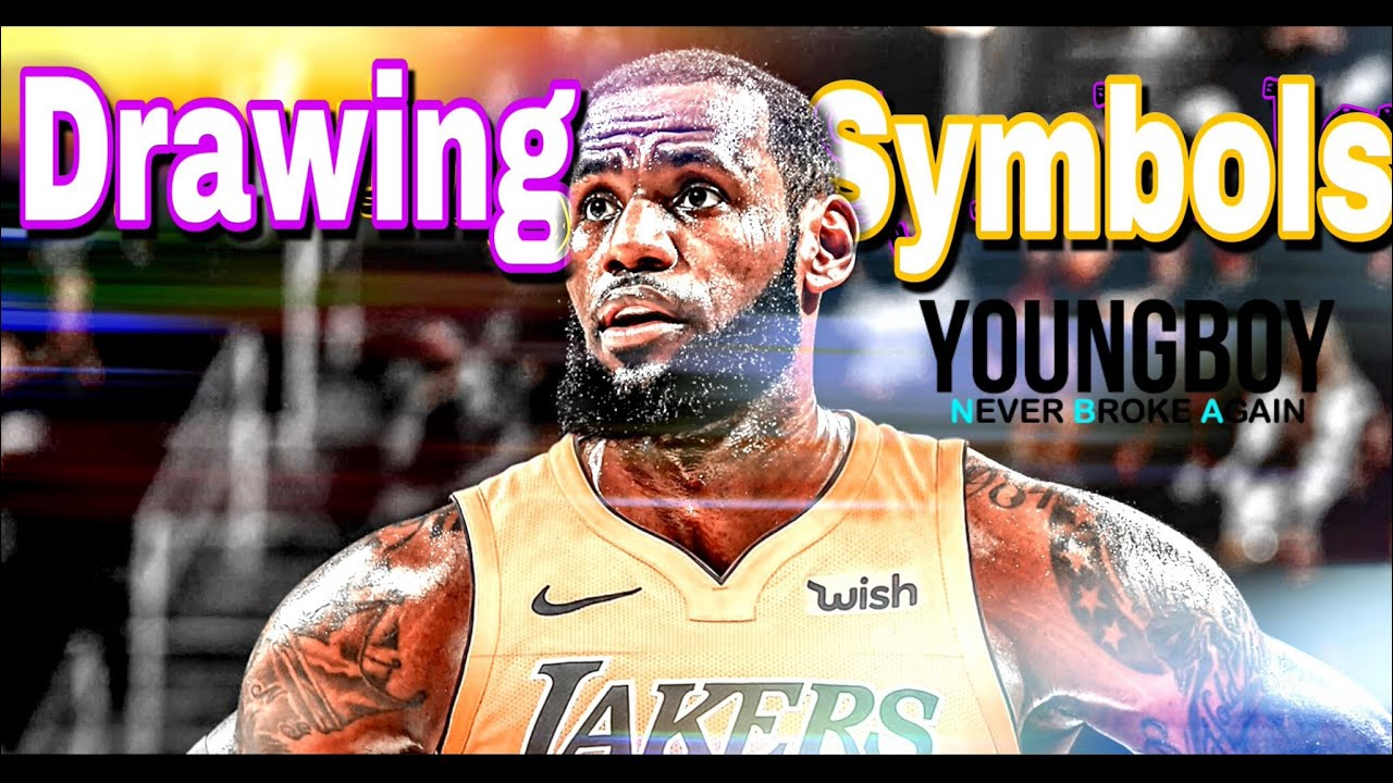 Lebron James Mix Drawing Symbols Youtube