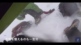 ロシア 7サミットエルブルース 吹雪の中、パスツーコフの岩 4,700m付近「テオ アイウィットネス LF」ファクトリー900 FA-085」エベレストに行ってきます!311/1000 15/7/15