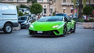 Supercars in Monaco 2018 - VOL. 12 (2x 675LT Spider, 2x Huracan Performante, Milltek RS6, GT2 RS)