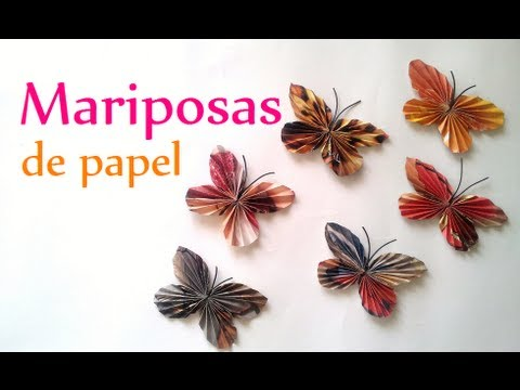 Manualidades c mo hacer mariposas de papel innova - Manualidades en papel ...