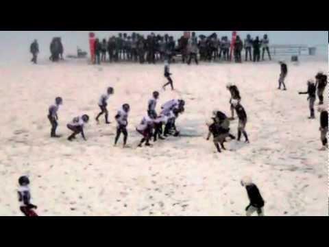 Chris Merchant QB Calgary Midget Falcons v Lions Highlights 2012 04 12
