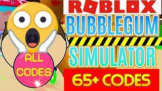 BUBBLE GUM SIMULATOR 65+ CODES ROBLOX