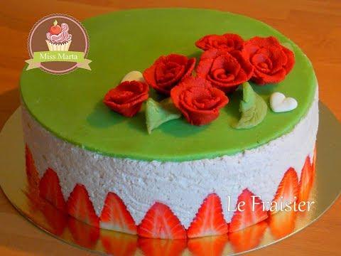 Recette du Fraisier au Mascarpone - Strawberry shortcake with mascarpone - Miss Marta