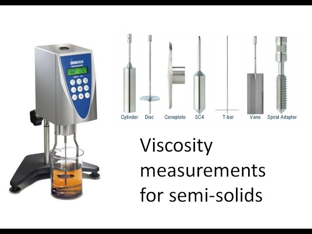 Measuring the viscosity of semi-solids