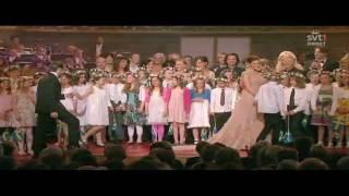 Barnkör sjunger för Victoria och Daniel 18 juni 2010