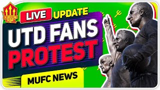 LIVE MAN UTD FANS PROTEST AT OLD TRAFFORD! Man Utd News