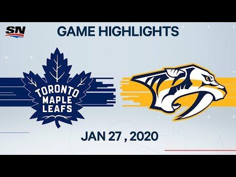 NHL Highlights | Maple Leafs Vs. Predators – Jan. 27, 2020